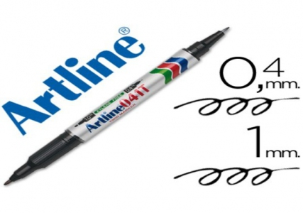 Artline Twin Head Marker 041T - Black