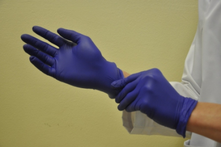 Top Glove Nitrile examination glove, blue Size: XL, 100pcs/box, 2box/bundle