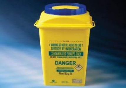 Plastilab Sharp Bin PP Safety Box, 3L, Pieces