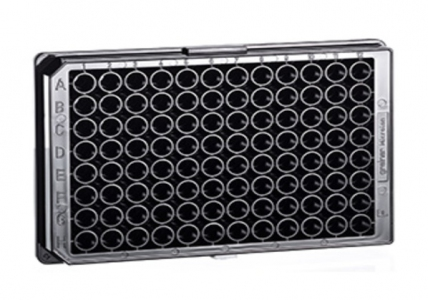 Greiner Bio-one Microplate 96 Well, F-Bottom (Chimney Well), Black, Fluotrac, High Binding, Sterile, 10pcs/bag, 40pcs/case