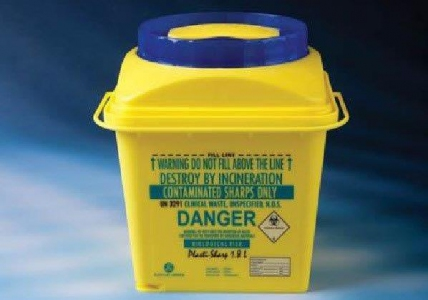 Plastilab Sharp Bin PP Safety Box 1.8L, Pieces