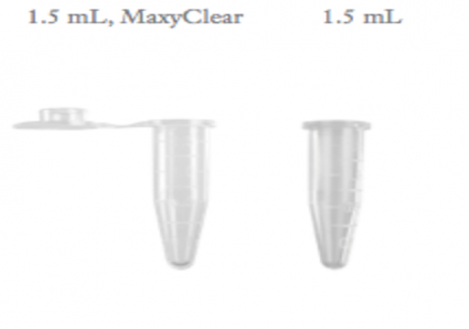 Axygen 1.5ml Boil-Proof Microtubes, Clear