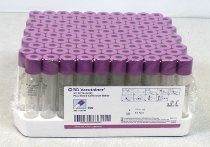 VACUTAINER PLUS 3.0ML K2 EDTA SPRAY-DRIED 1000pcs/case