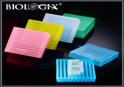 Biologix 81 Well PP Storage Boxes, Strip