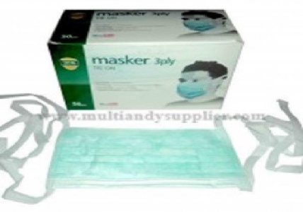 NB Tie-On Surgical Face Mask (3 Ply) TFM3, Case