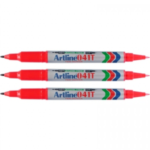 Artline Twin Head Marker 041T - Red